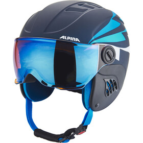 Alpina Carat LE Visor HM Hjelm Børn, nightblue-denim matt